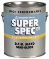 Photo for BENJAMIN MOORE Super Spec D.T.M. Alkyd Semi-Gloss P24