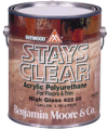 Photo for BENJAMIN MOORE Benwood Stays Clear Acrylic Polyurethane High Gloss 422