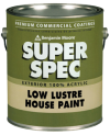 Photo for BENJAMIN MOORE Super Spec 100% Acrylic Latex Low Lustre House Paint N185