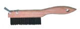 Photo for MAGNOLIA BRUSH ShoeHandle Wire Scratch Brush with Scraper