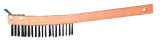 Photo for MAGNOLIA BRUSH Curved Handle Wire Scratch Brush with Scraper